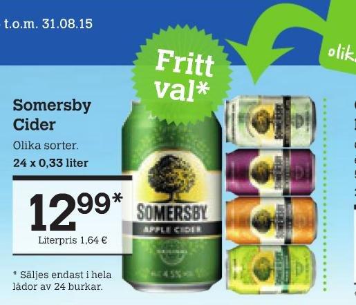 Somersby Apple Cider und weitere Sorten für 54 Cent pfandfrei LOKAL @Cittimarkt Kiel