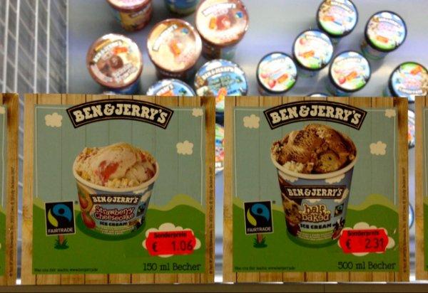 Ben & Jerry's Ice Cream 500ml für 2,31 Euro (Lokal Flensburg)