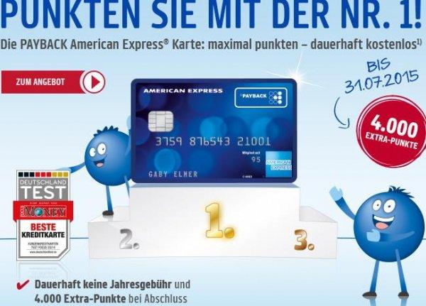 [PayBack] Wieder 4000 Punkte für American Express