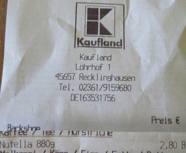 [Kaufland Recklinghausen] Nuttela 880g