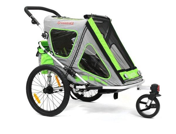 Qeridoo Speedkid2 für 350,55€ (Vergleichspreis: 400€) - Kinder-Fahrradanhänger/Jogging Kinderwagen @Plus.de