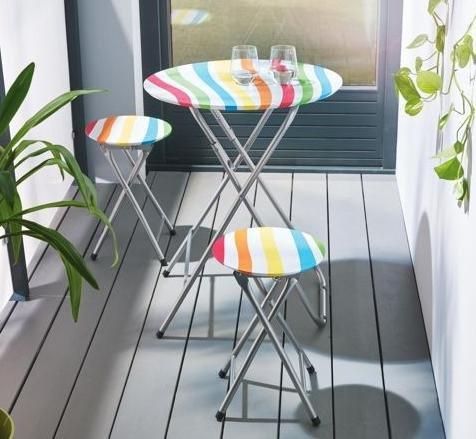 2x Balkonset 3-teilig für 14€ @Mömax