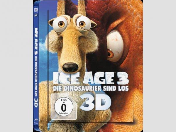 [Saturn] Ice Age 3: Die Dinosaurier sind los 3D (Steelbook Edition) - (Blu-ray 3D) für 15,99€ bei Filialabholung