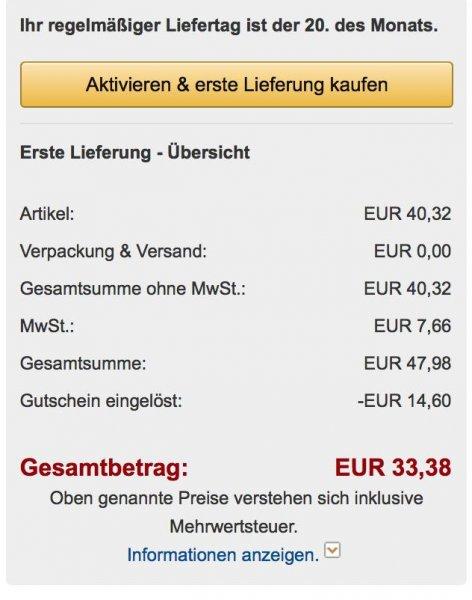 Zzgl. 5€ Rabatt auf Pampers Sparabo bei Amazon (Bsp: Preis für Active Fit Gr4)