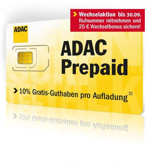 ADAC Prepaid für 9Cent/Min durch Europa (10,-€ Startguthaben)