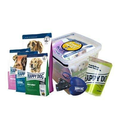 Gratis HappDog Paket mit Futter und Zubehör