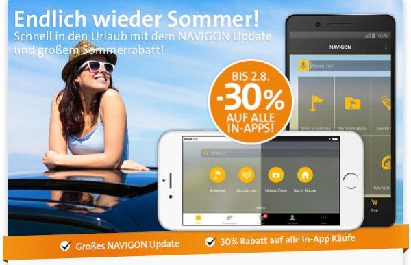 Navigon mind. 30% auf In-App Käufe