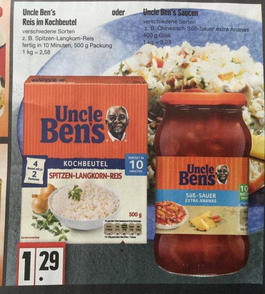 KW30 Edeka Nord Uncle Bens Kochbeutel Reis und Soßen für je 29Cent