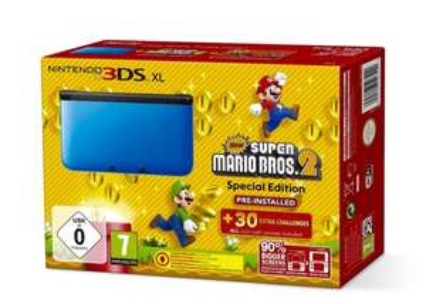 Nintendo 3DS XL blau inkl. Mario Bros 2 / 178€ (ebay) / idealo ab 199€