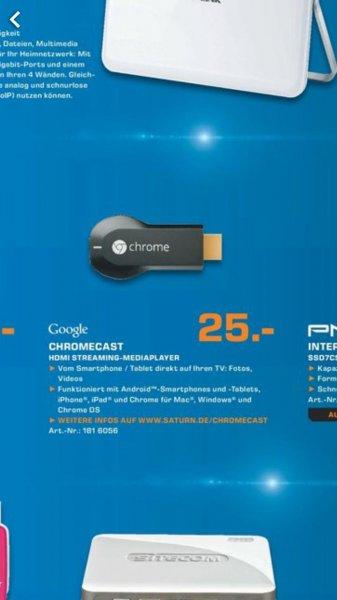 Saturn BLN & PDM - Chromecast 25€