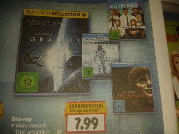 [Kaufland] Blu-ray Sonderposten in KW 30 je 7,99 €: Z. B. Interstellar, Gravity, Kill the Boss 2