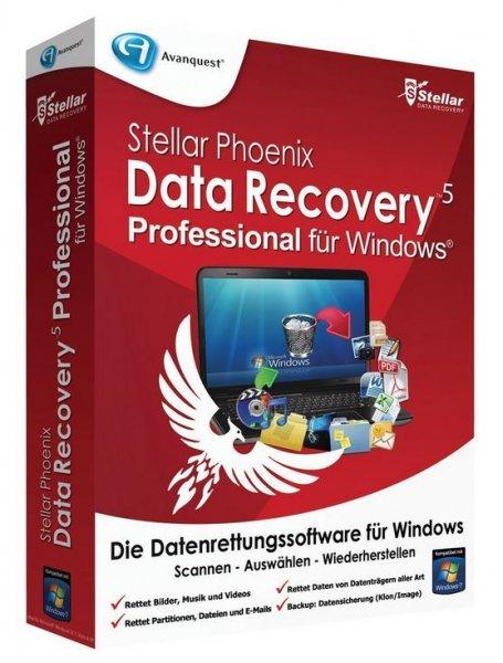 Stellar Phoenix Data Recovery 5 Professional, Vollversion für 6,90 € statt 22,95 €, @Pearl