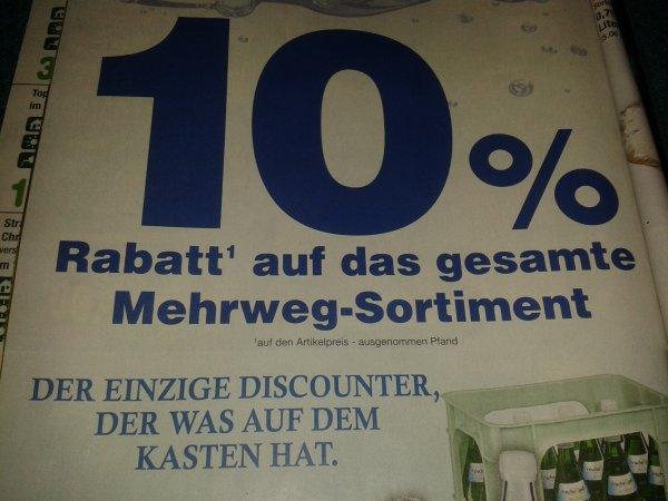 [Netto MD] 10% Rabatt auf das gesamte Mehrweg-Sortiment vom 23.7-25.7