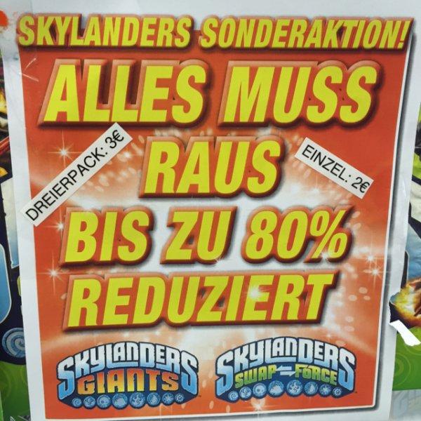 Expert Füssen Skylanders Giants und Swap Force Dreier Pack €3 Einzelfigur €2