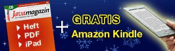 Amazon Kindle + Java Magazin Premium Abo (12 Ausgaben + PDF)  für 111 Euro