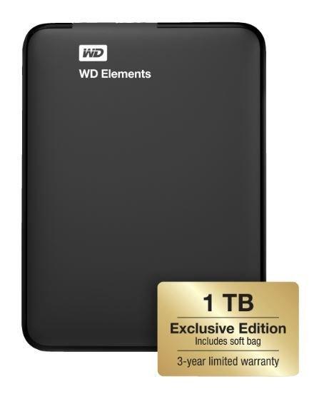 Western Digital Elements Portable Exclusive Edition 1TB, inkl. Schutzhülle, versandkostenfrei für 55,00 € statt 70,99 €, @Mediamarkt