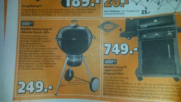 Weber Master Touch GBS für 249€ @Globus -> 222€ @Bauhaus
