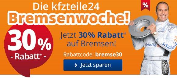 30% Rabatt auf KFZ Bremsen