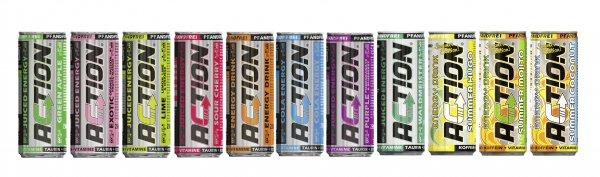 Act!on Enery Drink 24x für 9,99 EUR oder 48x für 18,99 (jeweils zzgl. 3,99 EUR Versand)