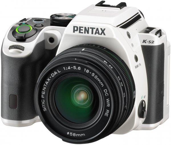 """Pentax K-S2 Spiegelreflexkamera + 18-50mm WR-Objektiv (20 MP, 3 """"Display, Full-HD, Wi-Fi, GPS, NFC, HDMI, USB 2.0) für 590,11€ @Amazon.fr"""