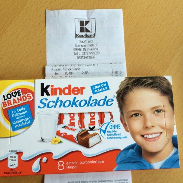 Lokal? Kaufland Mittweida - Kinder Schokolade