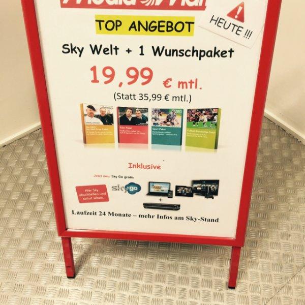 Sky Bundesliga+Wunschpaket  19,99€/Monat (Lokal Mediamarkt Wuppertal) nur heute