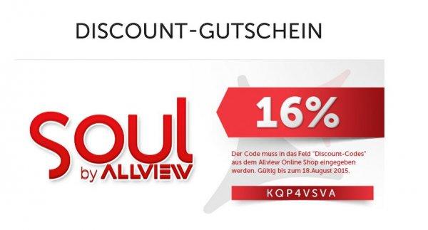 """Allview 16% Rabatt auf alle Gerät der """"Soul"""" Serie"""