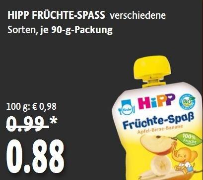 Kaisers - HIPP Früchte-Spass 90g (Angebot+Coupon)
