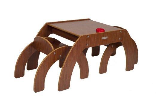[Amazon-Prime] Little Helper FSD01-3 - Inspired FunStation Duo Kleinkind Tisch und 2 Stühle Set mit Stiftehalter, 24 m, walnuss