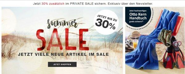 OTTO KERN Private Sale 30% + Gratis Handtuch ab 100€