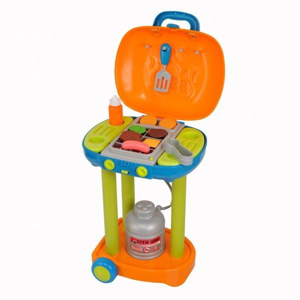 PlayGo 5330 - Batteriebetriebener Grill-Trolley mit Licht- und Grillgeräuschen für kleine Grillfans für 19,35€ bei Amazon (Prime)