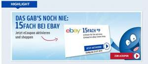 Ebay - 15fach Payback Coupon