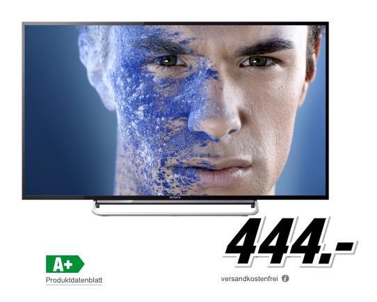 Sony KDL-48W605B 48 Zoll Full HD Smart TV, Motionflow XR 200Hz, WLAN, HD Triple Tuner, X-Reality PRO für 444€ @Media Markt