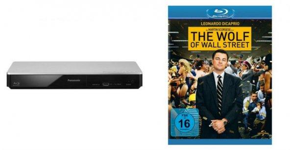 [Redcoon.de] Panasonic DMP-BDT161 3D BluRay Player + The Wolf of Wallstreet BluRay für 56,71€