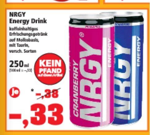 NRGY Energy Drink 250ml Dose für 0,33€ diese Woche bei Thomas Philipps
