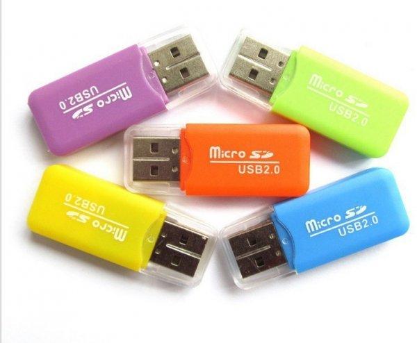 aliexpress.com - USB 2.0 Micro SD T-Flash Kartenlesegerät Adapter/ Preis: 28 Cent inkl. Versand