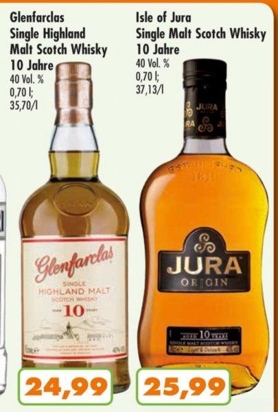 [Trink&Spare] Whisky Glenfarclas 10j (24,99€) / Jura 10j (25,99€)