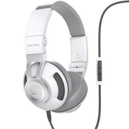 [Amazon] JBL Synchros S300A On-Ear Kopfhörer mit Mikrofon und 1-Tasten-Fernbedienung (weiß)
