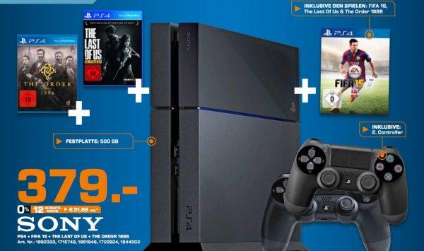 PS4 + 2. Controller + 3 Games 379,00 (evtl. lokal) HH + Norderstedt