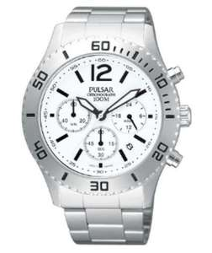 [Amazon] Pulsar Herren-Armbanduhr XL Sport Chronograph Quarz Edelstahl PT3105X1