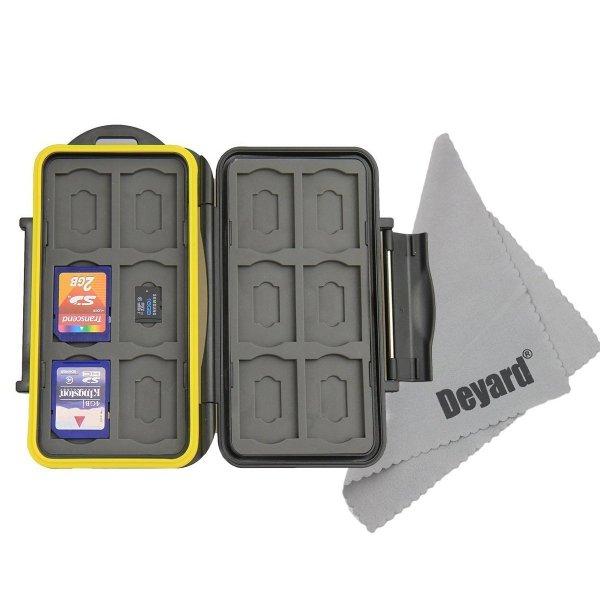 Wasserdicht und Stoßfest Speicherkarten Schutzbox / Aufbewahrungsbox für 12 SD's & micro SD's (Amazon Prime)