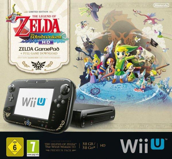 Nintendo Wii U The Legend of Zelda: The Wind Waker HD Premium Pack Limited Edition oder Mario Kart 8 Edition für 249,00€ @ebay.de WOW des Tages