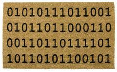 Fußmatte Binäres Willkommen