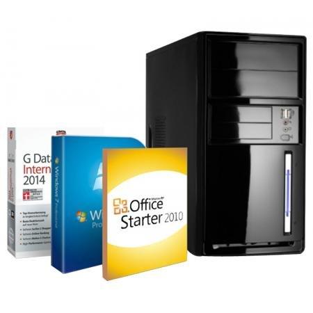 WIEDER VERFÜGBAR: Office PC Intel Celeron 4x 2.42Ghz 4GB DDR3 Arbeitsspeicher 500GB Festplatte DVD-Brenner Windows 7 Professional für 179€ VSK bei Redcoon