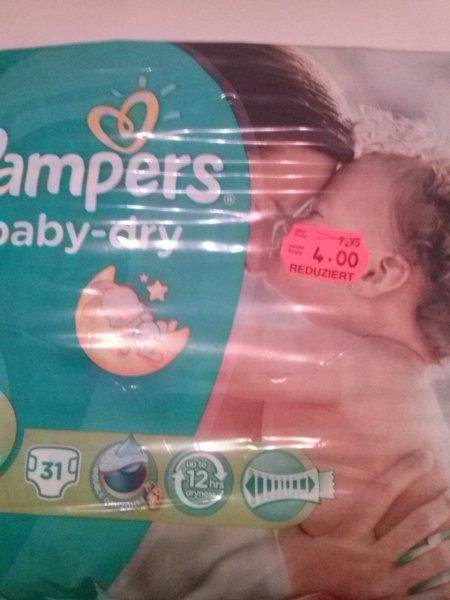 Pampers Baby Dry Kaufland (lokal?) statt 7,95 nur 4,00 (2,00€ mit Coupon und 2 Packungen)