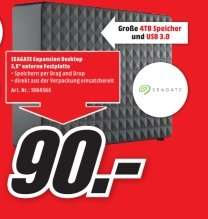 [Lokal Mediamarkt Plauen] Seagate Expansion Desktop 4TB (STEB4000200), USB3.0 für 90,-€