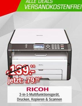 [Redcoon/Hot Deal] Ricoh SP 211SU Multifunktionsdrucker (Fax, Drucker, Scanner, 1200 x 600 dpi, USB 2.0)  für 79,90€ Versandkostenfrei