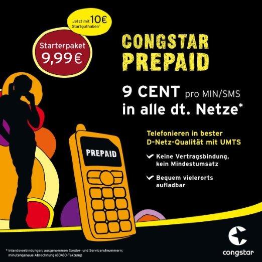 Congstar Prepaid mit 10€ Starguthaben (PSN) bei Amazon.de
