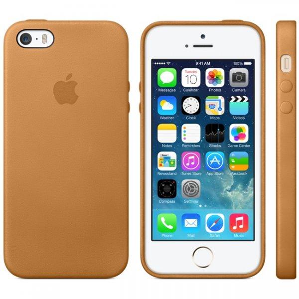 Original Apple iPhone 5 und 5S Leder Case Braun MF041ZM/A  zu annehmbarem Preis bei meintrendhandy.de