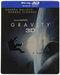 Gravity Steelbook [3D Blu-ray + Blu-ray] [Limited Edition] für 12,81€ @Amazon.it